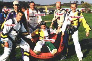 spasskameraden beim skydiving