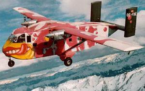 Tandem Flugzeug