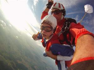 Tandemsprung Kinder Fallschirmspringen
