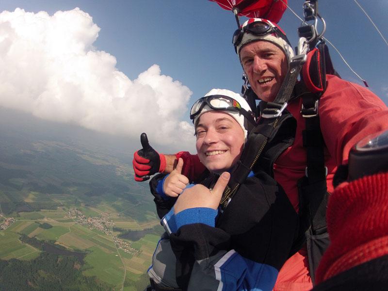 Schirmfahrt mit Andrea aus Amstetten Österreich