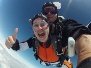 Fallschirm springen Freifall