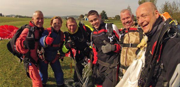 Tandemsprung Bilder nach Landung