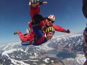 Fallschirm Freifall Großglockner