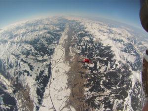 Alpenpanorama Fallschirmsprung